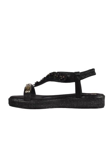 Mhd 3202 Siyah Kadın Sandalet Siyah
